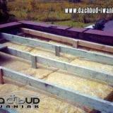 Przerobienie dachu betonowego (płaskiego) z ociepleniem żużlowym na dach drewniany (płaski)